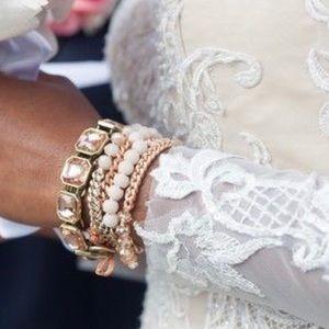 Retro Glam Square-Cut Crystal Bracelet